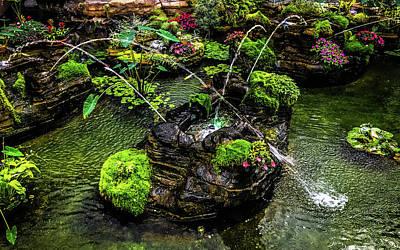Photograph - Cascades Fountains by Onyonet  Photo Studios