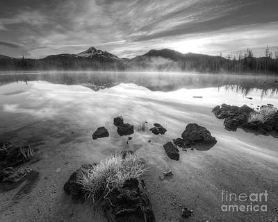 Bend Oregon Photograph - Cascades In Black And White by Twenty Two North Photography