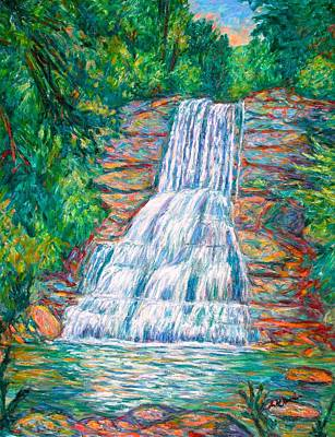 Impressionism Painting - Cascades In Giles County by Kendall Kessler