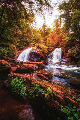 Photograph - Cascades In The Forest by Debra and Dave Vanderlaan