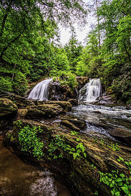 Photograph - Cascades In The Forest In Summer by Debra and Dave Vanderlaan