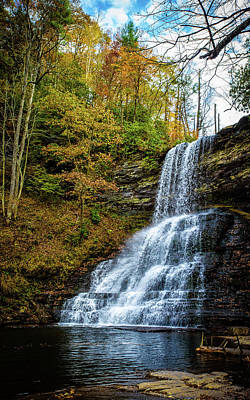 Photograph - Cascades Lower Falls by Joe Shrader