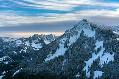 Winter Landscapes Photograph - Cascades Mountain Range Closeup by Mike Reid