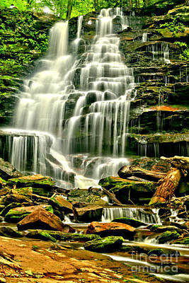 Photograph - Cascades Of Erie Falls  by Adam Jewell