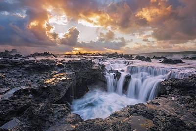 Stone Photograph - Cascades Of Kauai by Todd Kawasaki