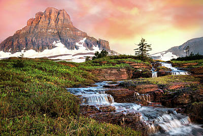 Photograph - Cascades Under Clements-logan Pass by Expressive Landscapes Nature Photography