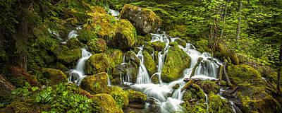 Watson Photograph - Cascadiing Water Panorama by Andrew Soundarajan