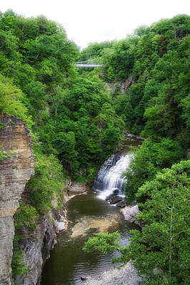 Cascadilla Waterfalls Cornell University Ithaca New York 01 Art Print by Thomas Woolworth