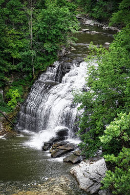 Cascadilla Waterfalls Cornell University Ithaca New York 03 Art Print by Thomas Woolworth