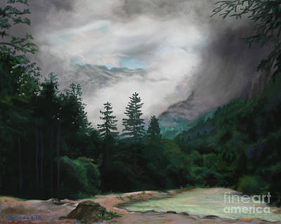 Painting - Cascading Clouds Austria by Kelly Borsheim