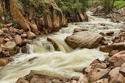 Photograph - Cascading Colorado Rocky Mountain Stream by James BO  Insogna