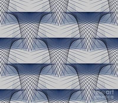 Cascading Geometric Patterns Art Print
