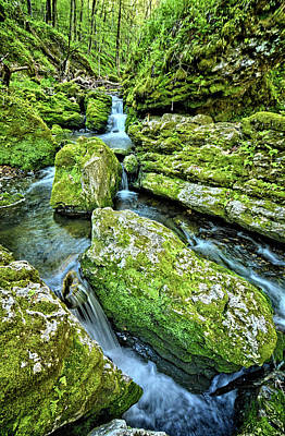 Photograph - Cascading Iowa Waters by Bonfire Photography