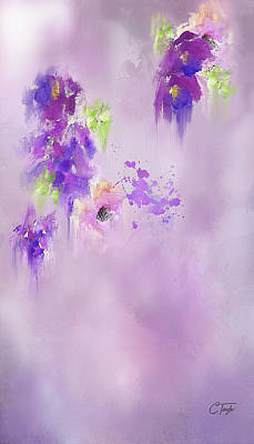 Mixed Media - Cascading Orchids by Colleen Taylor