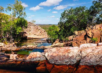 Cascading Rock Pools - Gunlom - Kakadu National Park Art Print