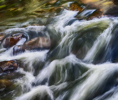 Painting - Cascading River by David Millenheft