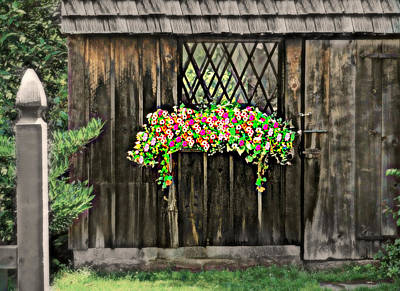 Flower Planter Photograph - Cascading Shed by Diana Angstadt