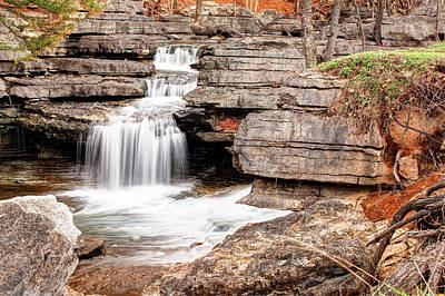 Photograph - Cascading Streams - Ozark Mountain Art by Gregory Ballos