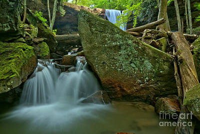 Photograph - Cascading Through Cucumber Canyon by Adam Jewell