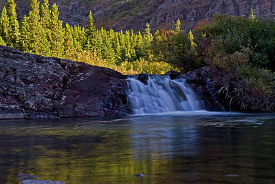 Photograph - Cascading Water by Chris LeBoutillier