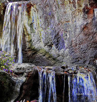 Cascading Water Solarized Art Print by DigiArt Diaries by Vicky B Fuller