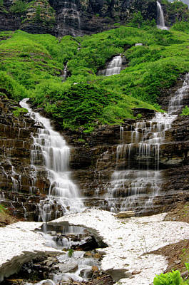 Photograph - Cascading Waterfall 2 by Larry Kjorvestad