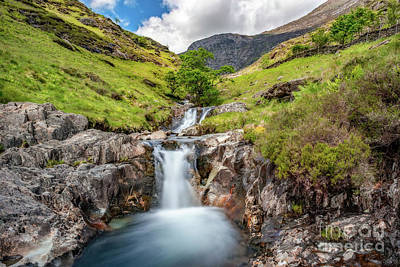 Photograph - Cascading Waterfall by Adrian Evans
