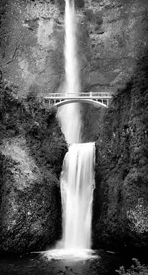 Photograph - Cascading Waterfall Bw by Athena Mckinzie