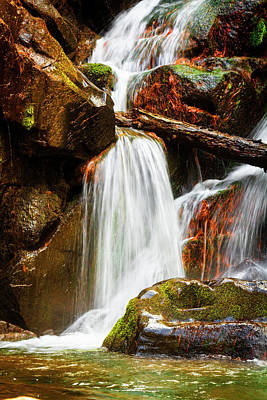 Photograph - Cascading Waterfall by Debra and Dave Vanderlaan