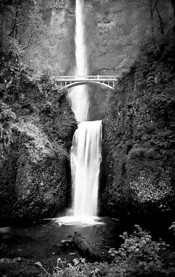 Photograph - Cascading Waterfall Multnomah Falls by Athena Mckinzie