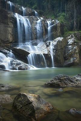 Cascading Waterfalls Art Print by Ng Hock How