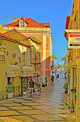 City Scene Digital Art - Cascais In The Morning by Mary Machare