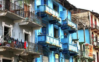 Photograph - Casco Viejo Blues Panama City by John Rizzuto