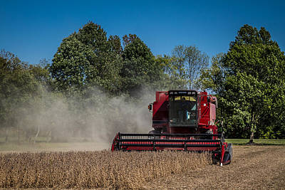 Photograph - Case Ih Bean Harvest by Ron Pate