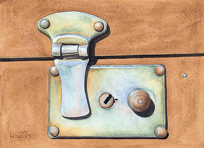 Painting - Case Latch by Ken Powers
