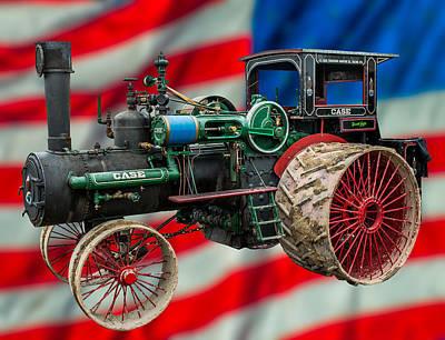 Case Steam Tractor Art Print by Paul Freidlund