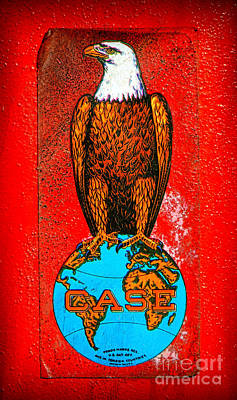 Case Tractor Eagle Label  Art Print