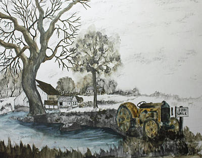 Drawing - Case Tractor For Sale by Jack G Brauer