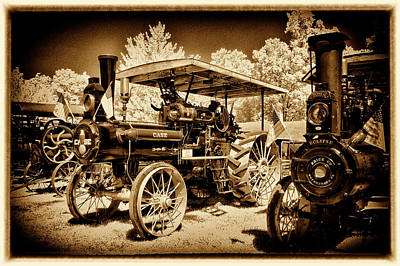 Photograph - Case Tractor In Line by Paul W Faust - Impressions of Light