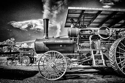 Photograph - Case Tractor Running A Mill by Paul W Faust - Impressions of Light