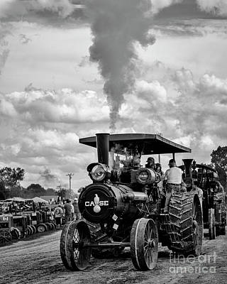 Photograph - Case Tractor Steam Engine by Tamara Becker