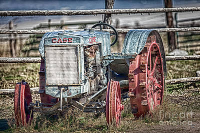 Photograph - Case Tractor-vintage by David Millenheft