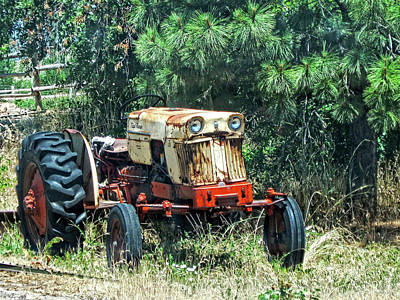 Photograph - Case Tractor Yard Art by David King