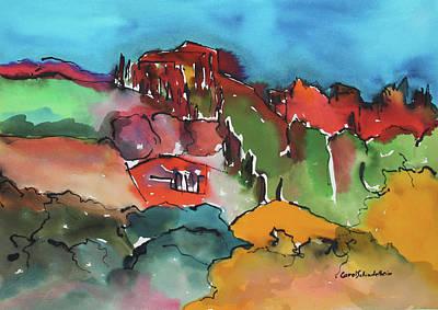 Painting - Casentino, Italy by Carol Schindelheim