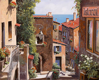 Alps Painting - casette a Cagnes by Guido Borelli