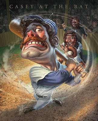 Catcher Digital Art - Casey At The Bat by Mark Fredrickson