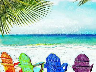 Casey Digital Art - Casey Key Beach Life by Barbara Chichester