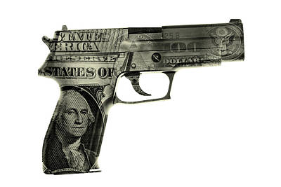 Banknotes Photograph - Cash Gun  by Les Cunliffe