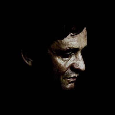 Johnny Cash Digital Art - Cash by Laurence Adamson