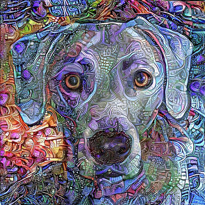 Cash The Blue Lacy Dog Closeup Art Print